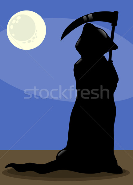 death at night cartoon illustration Stock photo © izakowski