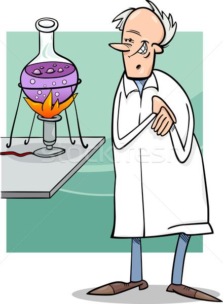 科学 室 漫画 実例 面白い 笑顔 ストックフォト © izakowski