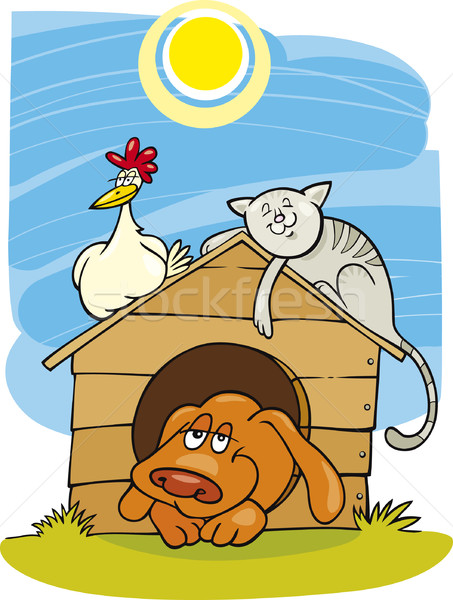 Happy farm animals Stock photo © izakowski
