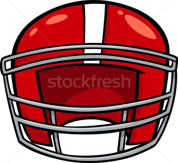 american football helmet clip art Stock photo © izakowski