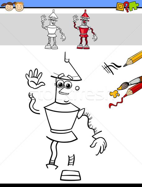 Istruzione compito ragazzi cartoon illustrazione Foto d'archivio © izakowski