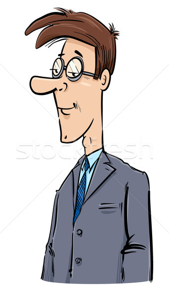 young businessman caricature drawing Stock photo © izakowski