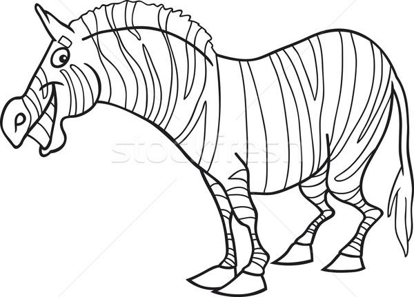 Karikatur Zebra Boyama Kitabi Ornek Komik Kitap