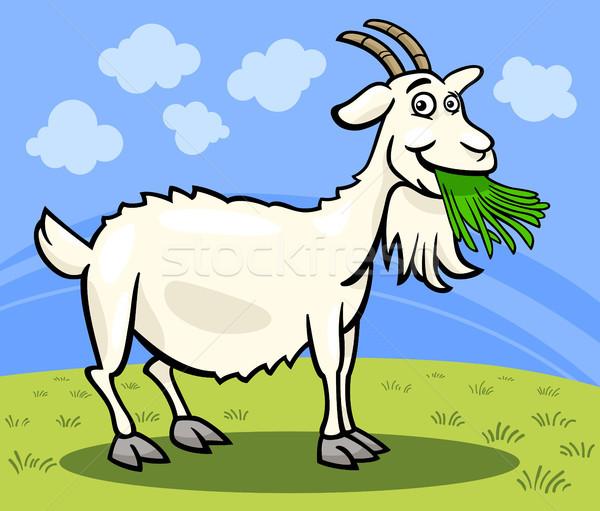 ヤギ 家畜 漫画 実例 面白い コミック ストックフォト © izakowski