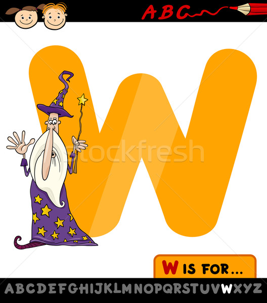 List w cartoon ilustracja alfabet dzieci Zdjęcia stock © izakowski