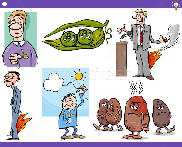 cartoon concepts and sayings set Stock photo © izakowski