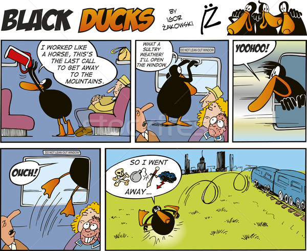 Black Ducks Comics episode 30 Stock photo © izakowski