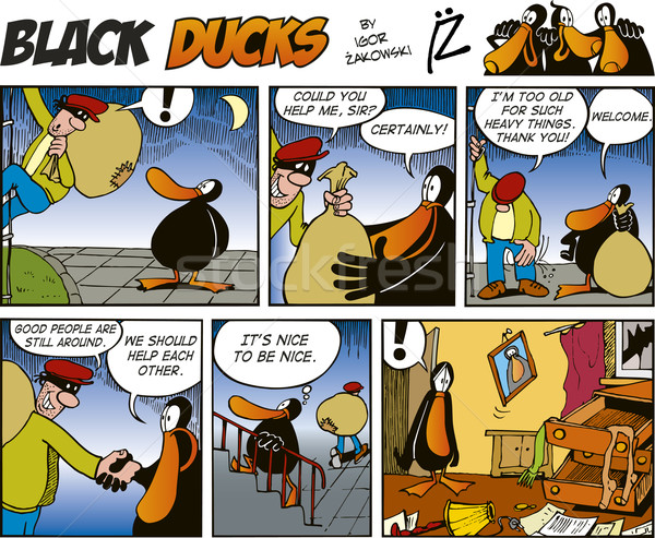 Black Ducks Comics episode 42 Stock photo © izakowski