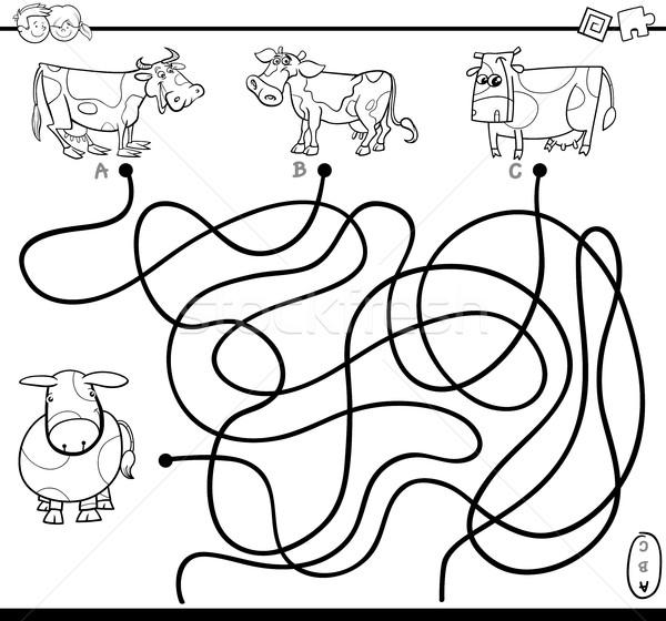 maze game coloring page Stock photo © izakowski