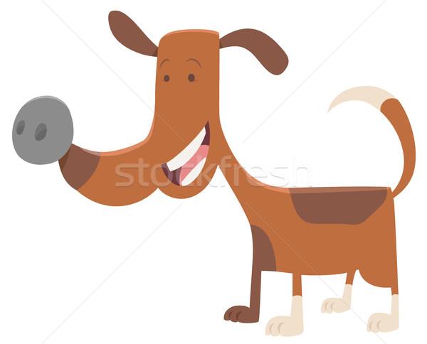 Stock photo: funny spotted dog cartoon