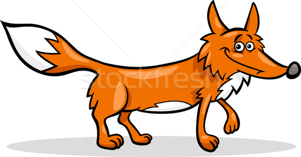 Sauvage Fox cartoon illustration drôle animaux Photo stock © izakowski