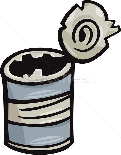 öreg konzerv kacat rajz illusztráció üres Stock fotó © izakowski