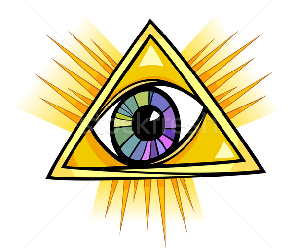 eye of providence illustration Stock photo © izakowski