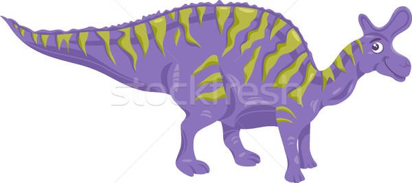 lambeosaurus dinosaur cartoon illustration Stock photo © izakowski