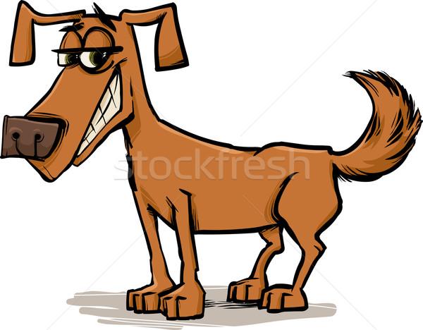 cute dog character sketch cartoon Stock photo © izakowski