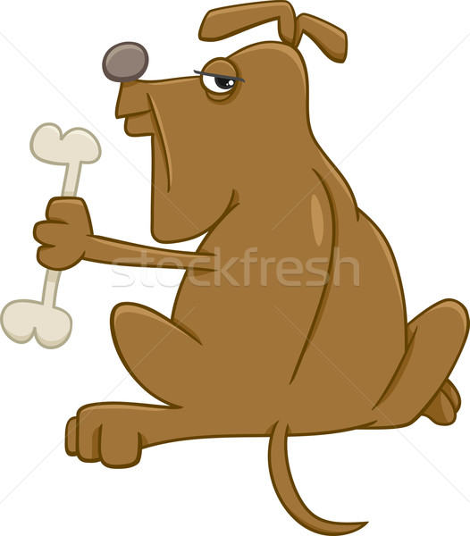 Dog bone cartoon illustratie hond dier karakter Stockfoto © izakowski
