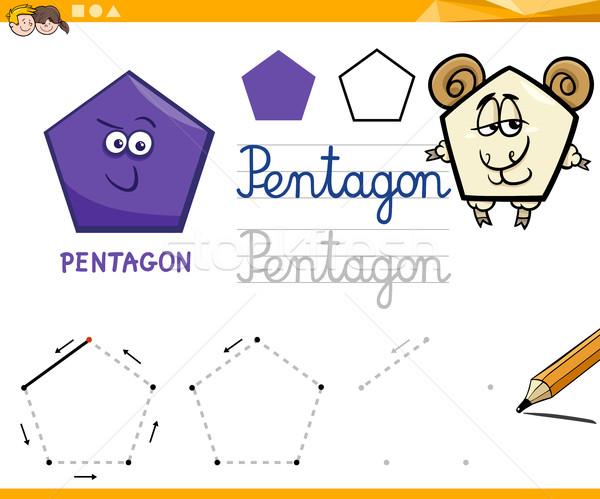 Cartoon фундаментальный геометрический образовательный иллюстрация Сток-фото © izakowski