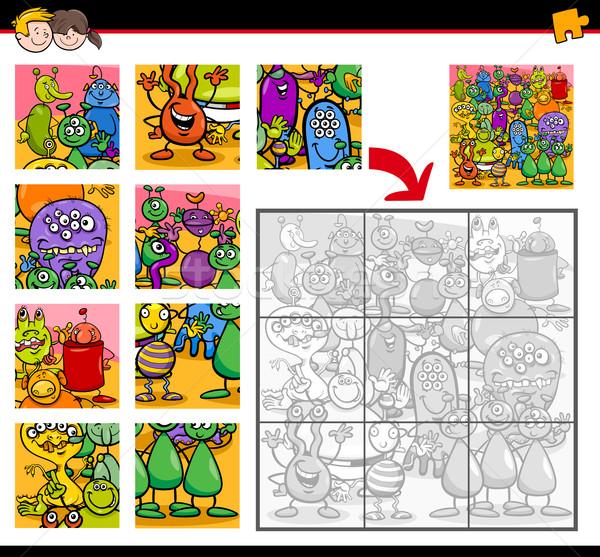 Desenho animado ilustração educação atividade crianças Foto stock © izakowski
