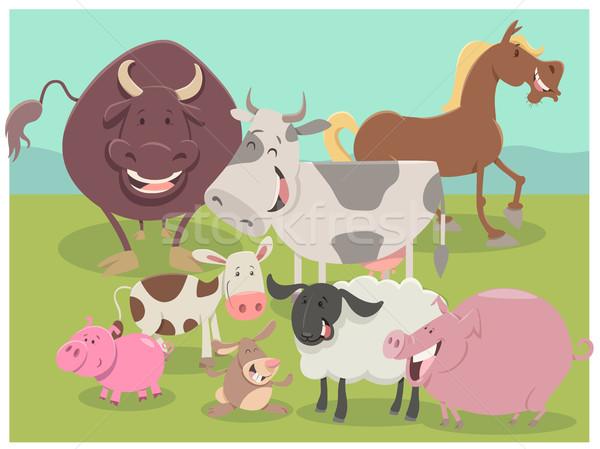 farm animal characters group Stock photo © izakowski