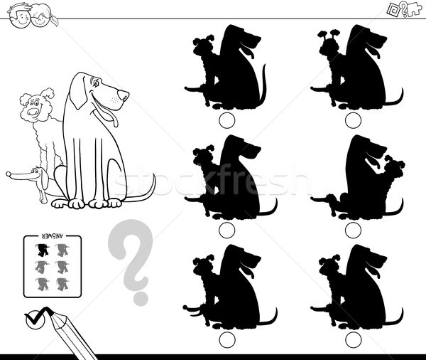 Oscuridad perros educativo color libro blanco negro Foto stock © izakowski