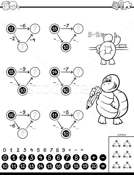 Educativo gioco ragazzi bianco nero cartoon Foto d'archivio © izakowski