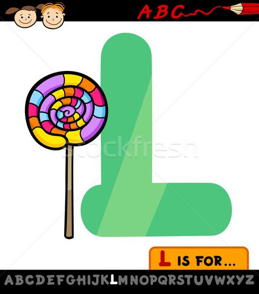 Letter l lolly cartoon illustratie hoofdletter alfabet Stockfoto © izakowski
