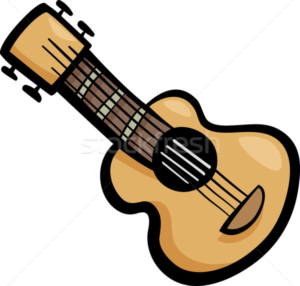 Guitare clipart cartoon illustration guitare acoustique oreille Photo stock © izakowski