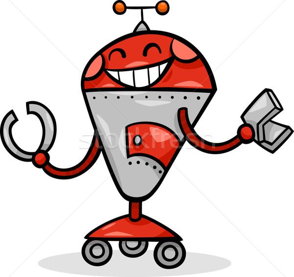 漫画 ロボット 実例 幸せ 子供 おもちゃ ストックフォト © izakowski