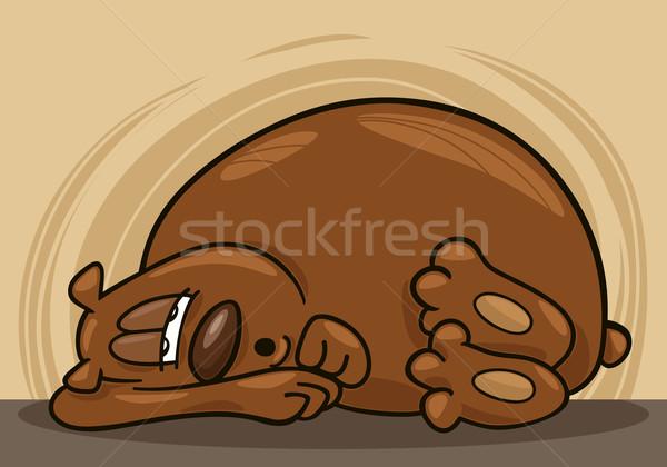 сонный несут иллюстрация зима смешные спать Сток-фото © izakowski