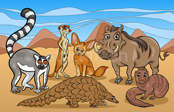 Africaine mammifères animaux cartoon illustration illustrations Photo stock © izakowski
