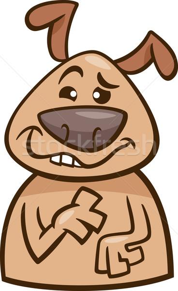 Nastrój psa cartoon ilustracja funny Zdjęcia stock © izakowski