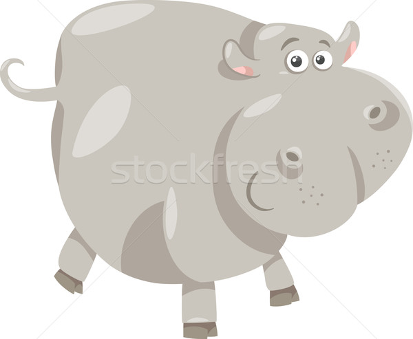 cute hippopotamus cartoon illustration Stock photo © izakowski
