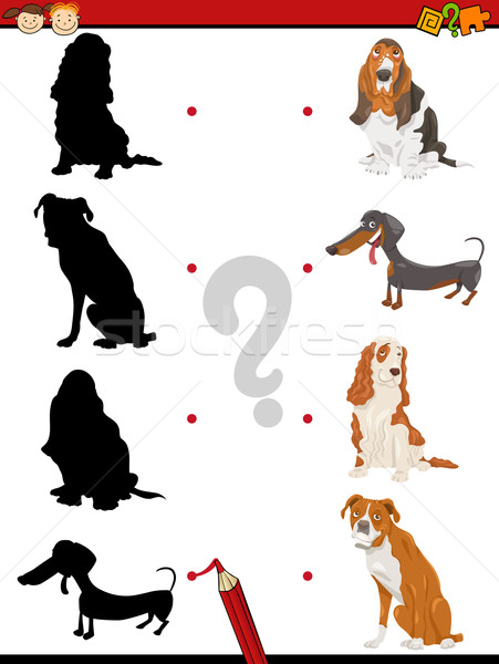 preschool shadow task with dogs Stock photo © izakowski