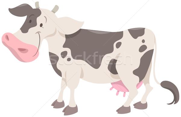 cute spotted cow animal Stock photo © izakowski
