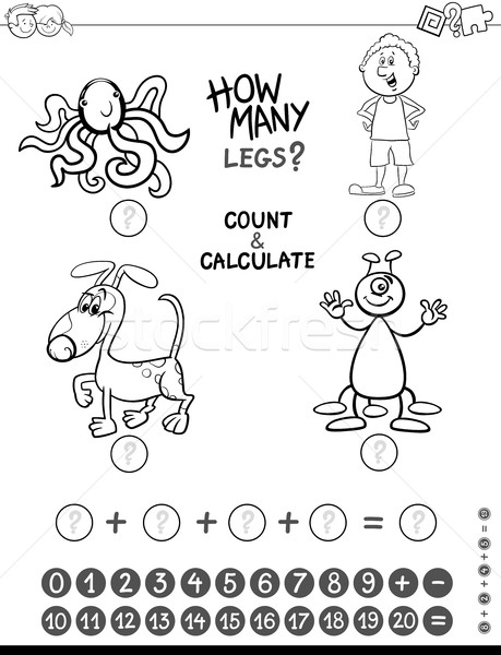 addition game coloring page Stock photo © izakowski