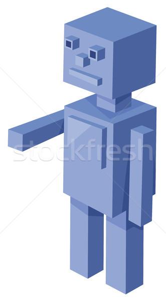 Robot karikatür örnek 3D oyun Stok fotoğraf © izakowski