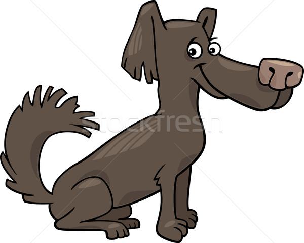 Kicsi kócos kutya rajz illusztráció vicces Stock fotó © izakowski