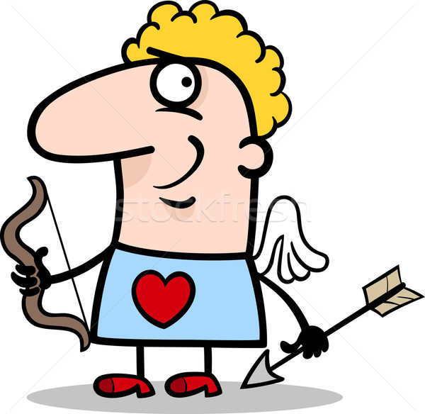valentine man in cupid costume cartoon Stock photo © izakowski