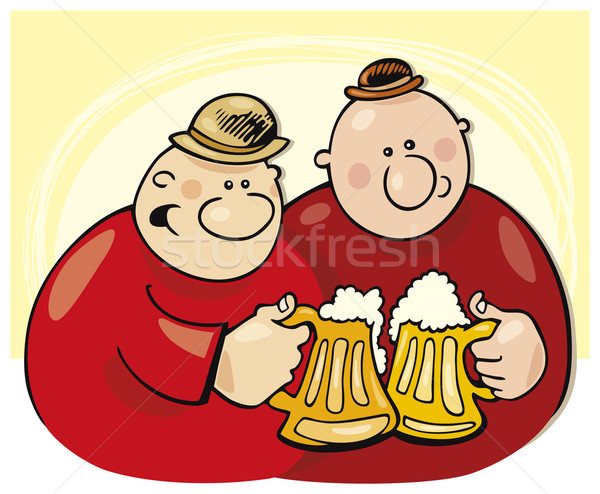 Guys drinking beer Stock photo © izakowski