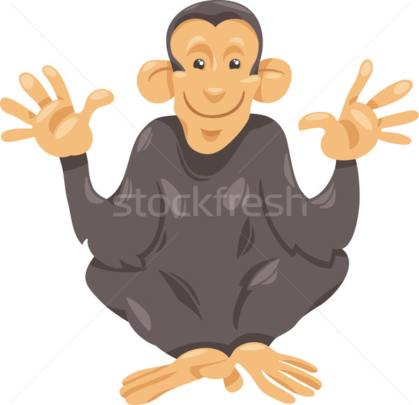 chimpanzee ape cartoon illustration Stock photo © izakowski