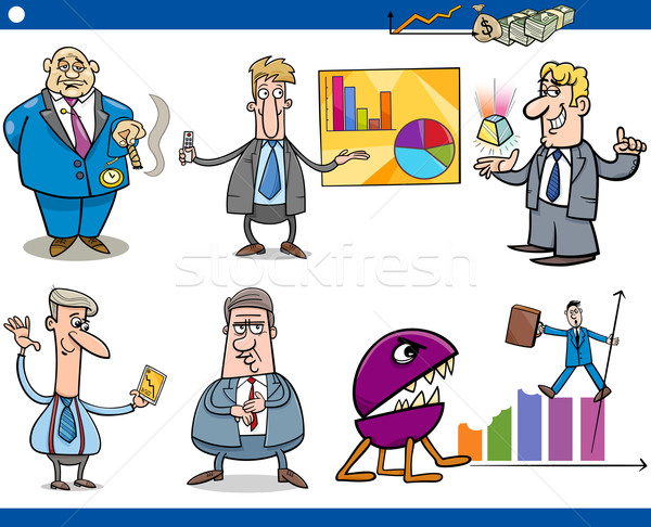 businessmen cartoon concepts set Stock photo © izakowski