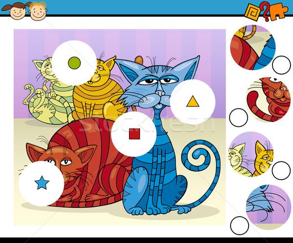 educational preschool game cartoon Stock photo © izakowski