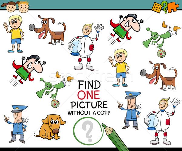 find single picture preschool task Stock photo © izakowski
