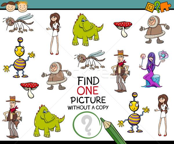 Kindergarten Aufgabe Kinder Karikatur Illustration Erkenntnis Stock foto © izakowski