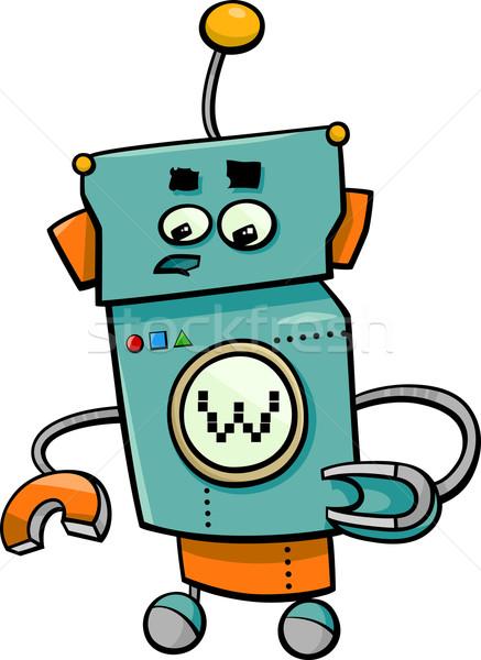 comic robot cartoon character Stock photo © izakowski