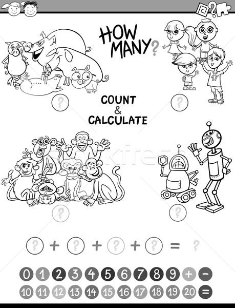math kids avtivity coloring page Stock photo © izakowski