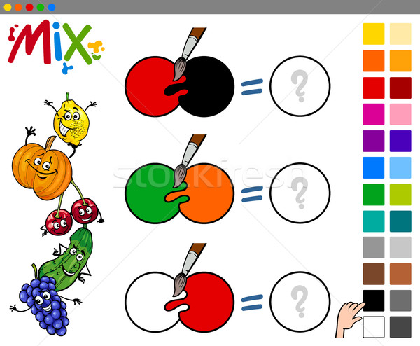 mix colors game for kids Stock photo © izakowski
