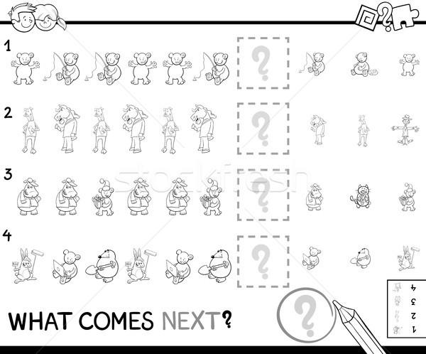 educational pattern coloring page for kids Stock photo © izakowski