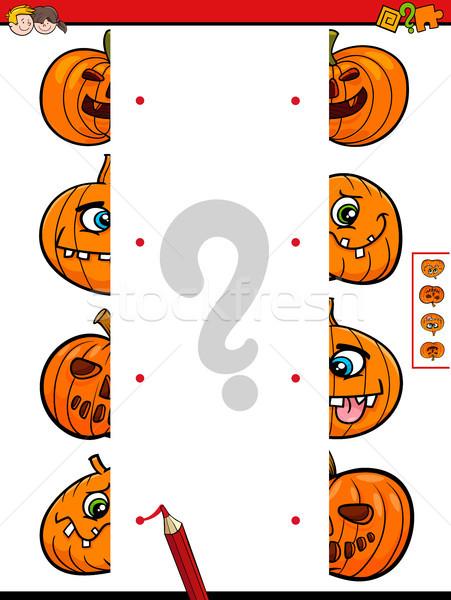 join halves game of halloween pumpkins Stock photo © izakowski