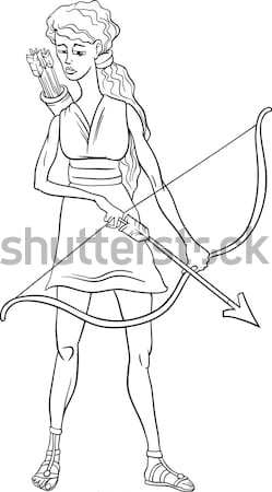 Knight woman cartoon illustration Stock photo © izakowski
